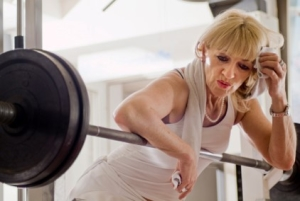 elderly female lifting