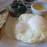 Steak and eggs was a favorite, but didn't eat much of that bread :)