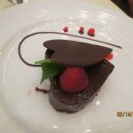 Valentine's dinner came with a delectable chocolate heart